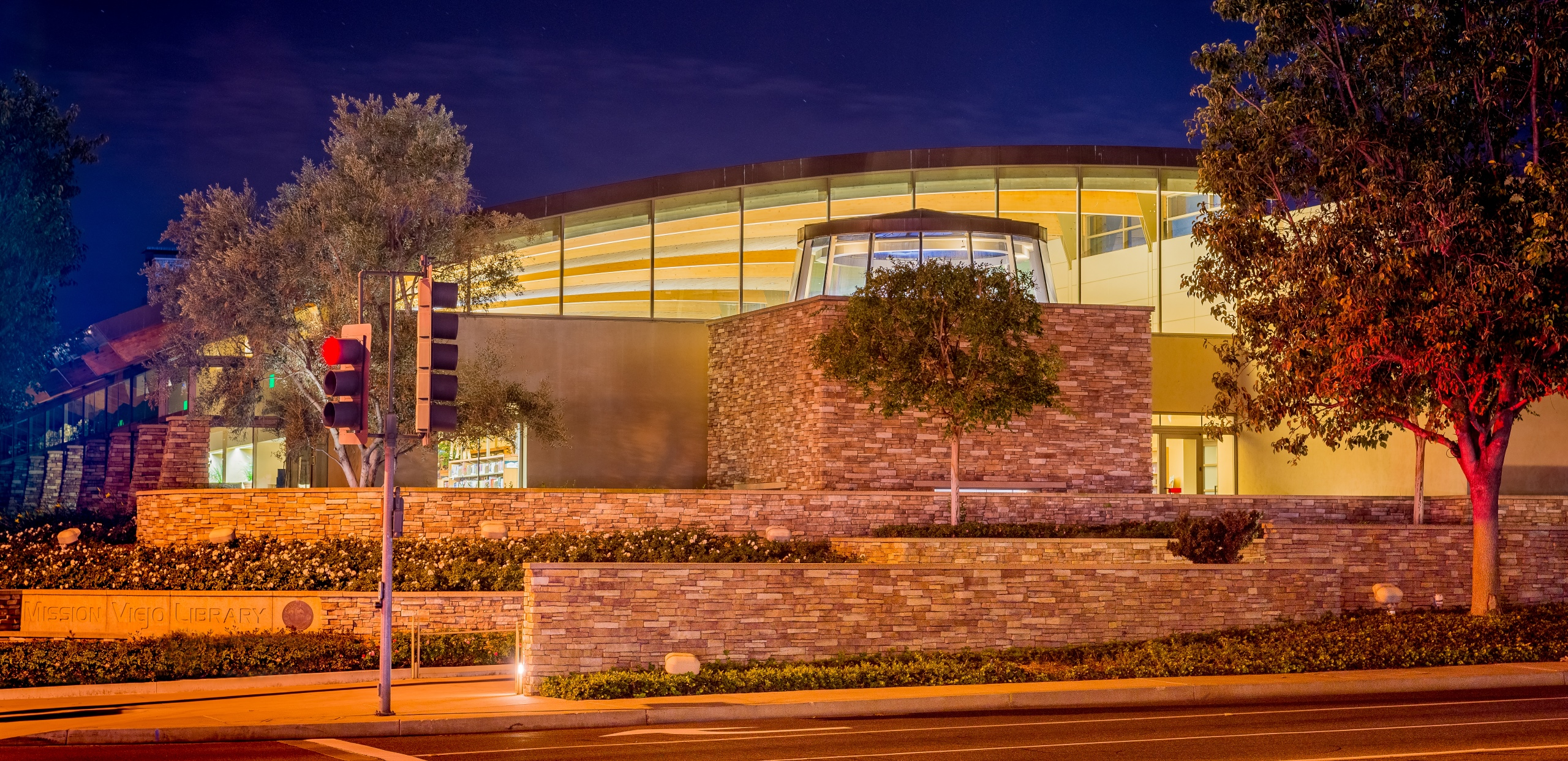 Mission Viejo Library at Night